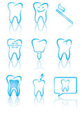 Dental symbols — Vector de stock
