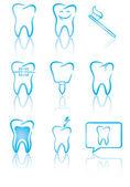 Simboli dentale — Vettoriale Stock