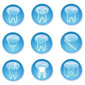 Dental buttons — Stock Vector