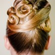 Stock Photo: Bride hairdo