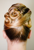 Bride hairdo — Stock Photo
