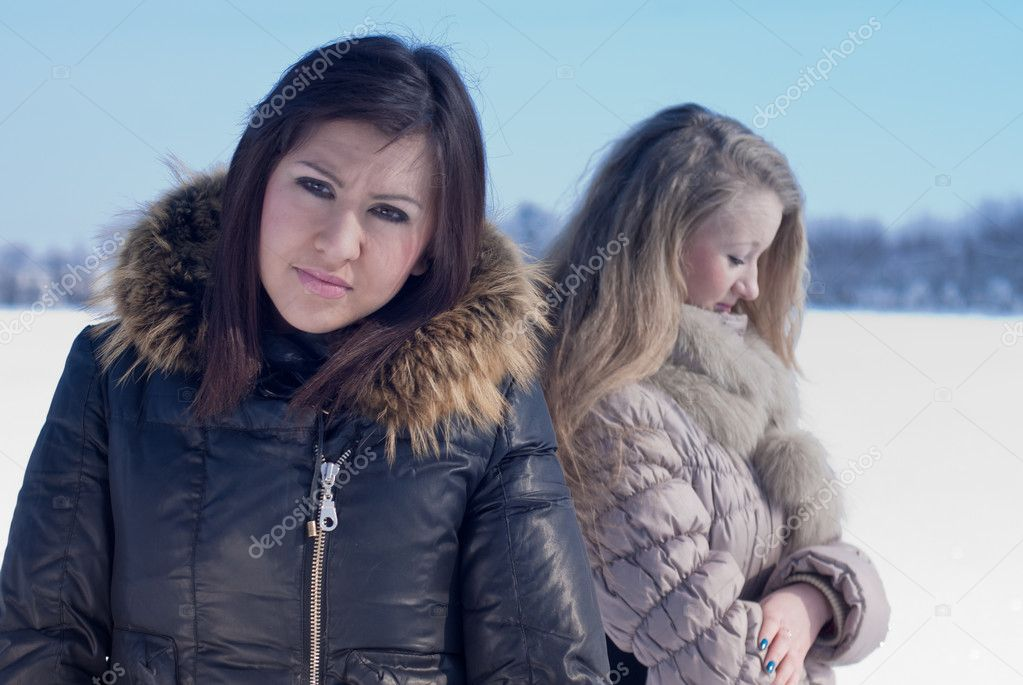 Two girls looking offended — Stock Photo #10377722