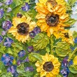 Oil painting of sunflowers — Stock Photo #10412566