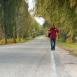 Male hitchhiker — Stock Photo