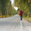 Male hitchhiker - Stock Photo