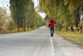 Male hitchhiker — Stock Photo