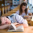 Royalty-Free Stock Photo: Sweet Dreams in a Library
