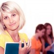 Young happy students — Stock Photo #10461744