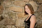 Gelukkig lachend tiener meisje — Stockfoto
