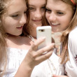 Teenagers Mobile World — Stockfoto