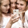 Teenagers Mobile World — Stock Photo