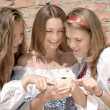 Teenagers Mobile World - Stock Photo