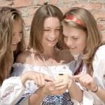 Teenagers Mobile World — Stock Photo