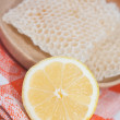 Lemon and honeycomb — Zdjęcie stockowe #10488203