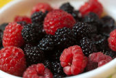 Raspberry and blackberry — Stock Photo