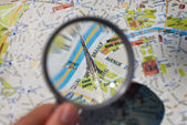 Paris tourist map — Stock Photo