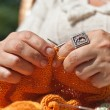 Knitting closeup — Stock Photo #10495217