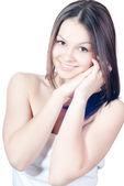 Young pretty woman studio portrait — Stock Photo