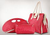 Red women bags — Stock Photo