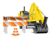 Reconstruction concept on white — Stock Photo