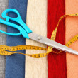 Scissors and measuring tape - Stock Photo