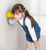 Child girl overhear — Stock Photo
