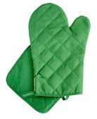 Green heat protective mitten — Stock Photo