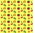 Fruits summer seamless texture - Stock Vector