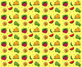 Fruits summer seamless texture — Vector de stock