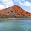 Stock Photo: Volcano in timanfaynational park in Lanzarote, Spain