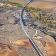 Aerial of countryside and fields around madrid — Stock Photo #10421204