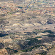 Stock Photo: Aerial of countryside and fields around madrid