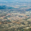 Aerial of countryside and fields around madrid — Stock Photo
