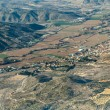 Aerial of countryside and fields around madrid - Stockfoto