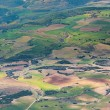 Aerial of countryside and fields around madrid - Foto Stock