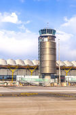 Tower at Terminal 4 at Barajay Airport — Stock Photo