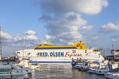 The ferry Bocayna Express from Fred Olsen in the harbor of Playa — Stock Photo
