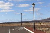 New roads for the development area in Lanzarote — Stock Photo
