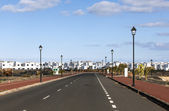New roads for the development area in Lanzarote — Stock Photo
