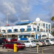 Stockfoto: Shops and restaurants on seafront promenade