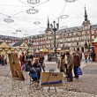 Painters offer their art at Madrids Plaza de major in Christmas - Stock Photo