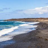 Janubio, lanzarote volkanik beach — Stok fotoğraf