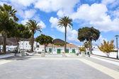 Hermosa plaza en yaiza — Foto de Stock