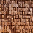 Red stapled bricks give harmonic pattern in sun — Stock Photo #7978935