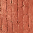 Red brick wall gives harmonic pattern in sun — Stock Photo #7978968