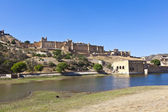 Famous Amber Fort in Jaipur — Stock Photo