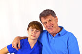 Happy father with his cute son — Stock Photo