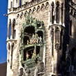 Glockenspiel on the Munich city hall - Stock Photo