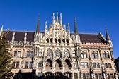 Facade of Munich city hall — Stock Photo