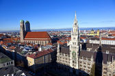 Aerial of Munich in beautiful weather — Stock Photo